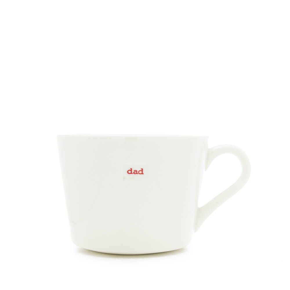 "Mini Bucket Mug ""dad"" 280ml"