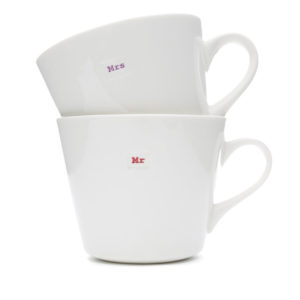 Standard Bucket Mug Pair 350Ml - Mr Mrs