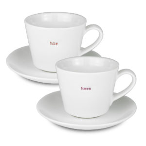 Espresso Cup & Saucer Pair - His Hers
