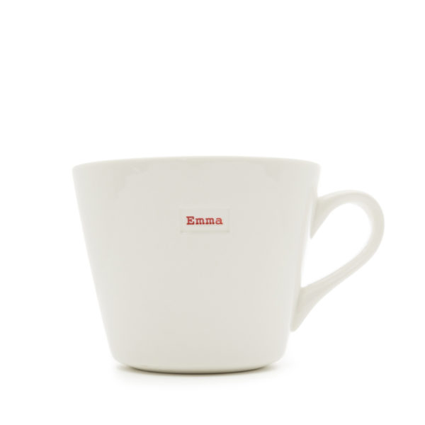 "White Bucket Mug ""bestie"" 350ml"