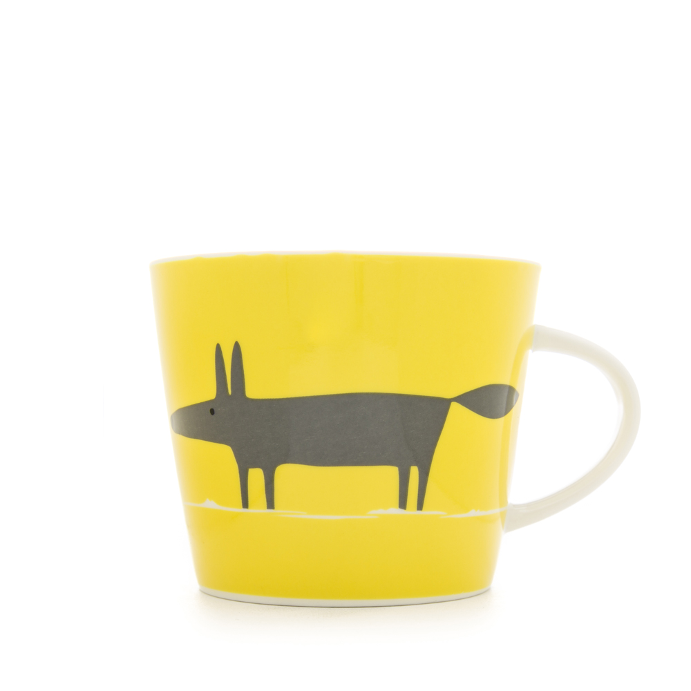 Scion Mr Fox Mug 350Ml - Charcoal & Lime