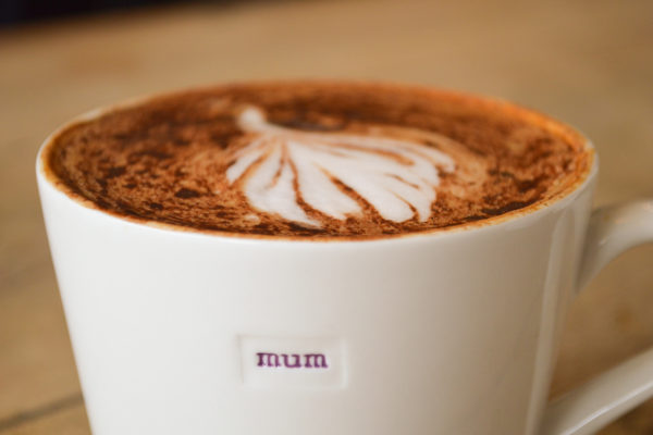 "White Bucket Mug ""mum"" 350ml"