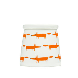 Mr Fox Storage Jar | Small | Ceramic & Orange Multi
