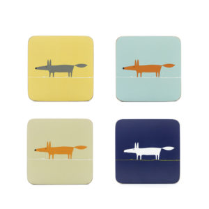 Mr Fox - Coasters Set of 4