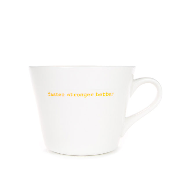 Standard Bucket Mug 350ml - faster stronger better