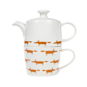 Scion Mr Fox Tea for One Set | Ceramic & Orange