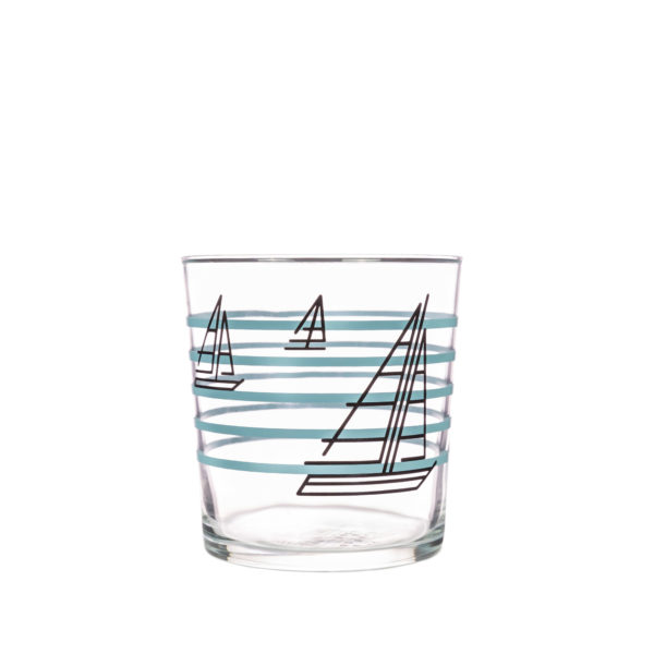 Bert & Buoy Design Glass Tumbler Boat Race