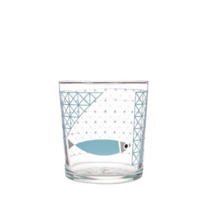Bert & Buoy Design Glass Tumbler Fishy Escape